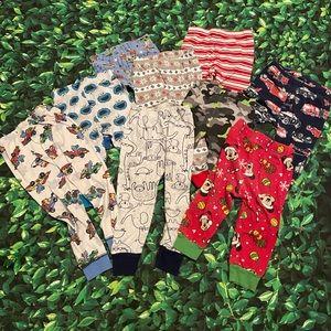 9 Toddler Pajama Pants Size 18-24m 2T Boys